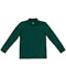 Photograph of Classroom Child's Unisex Youth Unisex Long Sleeve Pique Polo Green 58352-SSHN