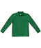 Photograph of Classroom Child's Unisex Youth Unisex Long Sleeve Pique Polo Green 58352-SSKG