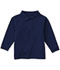 Photograph of Classroom Child's Unisex Youth Unisex Long Sleeve Pique Polo Blue 58352-SSNV