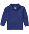Photograph of Classroom Child's Unisex Youth Unisex Long Sleeve Pique Polo Blue 58352-SSRY