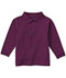 Photograph of Classroom Child's Unisex Youth Unisex Long Sleeve Pique Polo Purple 58352-WINE