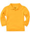 Photograph of Classroom Unisex Adult Unisex Long Sleeve Pique Polo Yellow 58354-GOLD