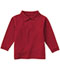 Photograph of Classroom Unisex Adult Unisex Long Sleeve Pique Polo Red 58354-RED
