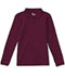 Photograph of Classroom Junior's Junior Long Sleeve Fitted Interlock Polo Purple 58544-BUR