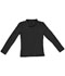 Photograph of Classroom Junior Junior Long Sleeve Fitted Interlock Polo Black 58544-SSBK