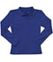 Photograph of Classroom Junior's Junior Long Sleeve Fitted Interlock Polo Blue 58544-SSRY