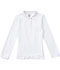 Photograph of Classroom Junior's Junior Long Sleeve Fitted Interlock Polo White 58544-SSWT