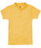 Photograph of Classroom Girl\'s Girls Short Sleeve Fitted Interlock Polo Yellow 58582-GOLD
