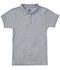 Photograph of Classroom Uniforms Girl's Girls Short Sleeve Fitted Interlock Polo Gray 58582-HGRY