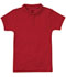 Photograph of Classroom Girl\'s Girls Short Sleeve Fitted Interlock Polo Red 58582-RED