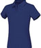 Photograph of Classroom Girl\'s Girls Short Sleeve Fitted Interlock Polo Blue 58582-ROY