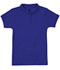 Photograph of Classroom Girl's Girls Short Sleeve Fitted Interlock Polo Blue 58582-SSRY
