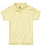 Photograph of Classroom Girl\'s Girls Short Sleeve Fitted Interlock Polo Yellow 58582-YEL