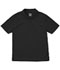 Photograph of Classroom Unisex Adult Unisex Moisture-Wicking Polo Shirt Black 58604-SSBK