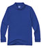 Photograph of Classroom Child's Unisex Youth Unisex Long Sleeve Interlock Polo Blue 58732-SSRY