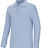 Photograph of Classroom Unisex Adult Unisex Long Sleeve Interlock Polo Blue 58734-LTB