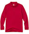Photograph of Classroom Unisex Adult Unisex Long Sleeve Interlock Polo Red 58734-RED