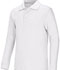 Photograph of Classroom Unisex Adult Unisex Long Sleeve Interlock Polo White 58734-WHT