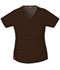 Photograph of Dickies Gen Flex Women\'s Mock Wrap Top Brown 817355-CHCZ