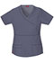 Photograph of Dickies Gen Flex Women's Mock Wrap Top Gray 817355-PEWZ