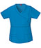 Photograph of Dickies Gen Flex Women's Mock Wrap Top Blue 817355-RVBZ