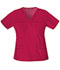 Photograph of Dickies Gen Flex Women\'s V-Neck Top Red 817455-CRMZ