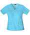 Photograph of Dickies Gen Flex V-Neck Top in Icy Turquoise