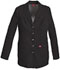"Photograph of Dickies Xtreme Stretch 28"" Snap Front Lab Coat in Black"