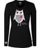 Photograph of Dickies Prints Women's Owl Steal Your Heart Underscrub Tee Black 82739-OWLH