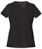 Photograph of Dickies Xtreme Stretch Women\'s V-Neck Top Black 82851-BLKZ