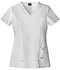 Photograph of Dickies Xtreme Stretch V-Neck Top in White