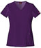 Photograph of Dickies Xtreme Stretch V-Neck Top in Eggplant