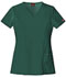 Photograph of Dickies Xtreme Stretch Women\'s V-Neck Top Green 82851-HTRZ