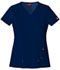 Photograph of Xtreme Stretch Women's V-Neck Top Blue 82851-NVYZ