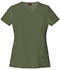 Photograph of Xtreme Stretch Women's V-Neck Top Green 82851-OLWZ