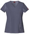 Photograph of Dickies Xtreme Stretch Women's V-Neck Top Gray 82851-PEWZ