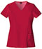 Photograph of Dickies Xtreme Stretch Women's V-Neck Top Red 82851-REWZ