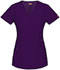 Photograph of Dickies Xtreme Stretch Mock Wrap Top in Eggplant