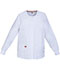 Photograph of Dickies EDS Signature Women's Snap Front Warm-Up Jacket White 86306-WHWZ