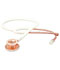 Photograph of student lightweight Unisex ADSCOPE-Ultra Lite Clinician Stethoscope Rose Gold, White AD619-RGWH