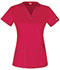 Photograph of Gen Flex Women's V-Neck Top Red DK800-CRMZ