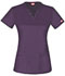 Photograph of Dickies Gen Flex V-Neck Top in Eggplant
