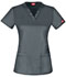 Photograph of Dickies Gen Flex V-Neck Top in Light Pewter