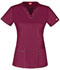 Photograph of Gen Flex Women's V-Neck Top Red DK800-WINZ