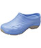 Photograph of Medical Footwear Unisex Slip Resistant Injected Closed Back Clog Blue EXACT-CIE