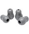 Photograph of stethoscope parts Unisex Large and Small Soft-Sealing Eartips Gray L40002-GRY