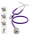 Photograph of critical care cardiology Unisex MDF MD One Epoch Titanium Stethoscope Purple MDF777DT-8
