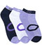 Photograph of Infinity Socks Women's SPARK Blue Lilac, White, Navy SPARK-BLLNV