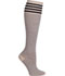 Photograph of Support Hosiery Women WLWN Black Stripe on Cream WLWN-CSTRP