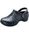 Photograph of Medical Footwear Unisex Injected Clog w/ backstrap Black ZIGZAG-BLK